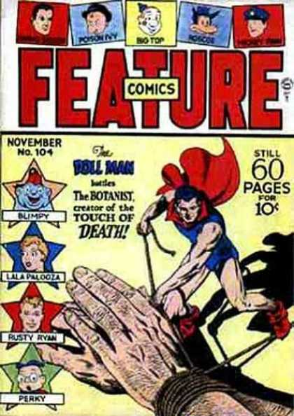 Feature Comics 104 - Big Top - Poison Ivy - Doll Man - Blimpy - Touch Of Death