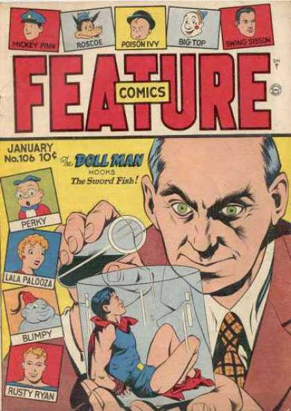 Feature Comics 106 - Doll Man - The Sword Fish - Perky - Lala Palooza - Rusty Ryan