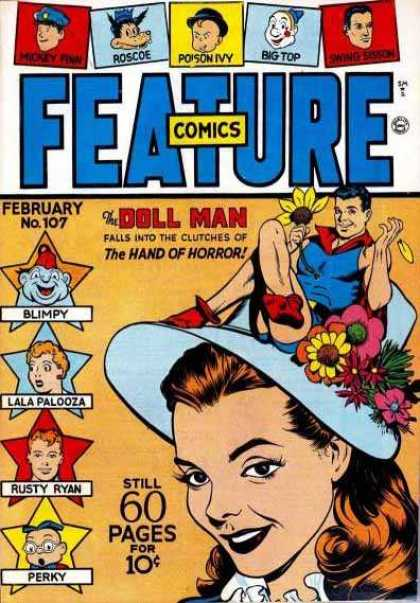 Feature Comics 107 - Doll Man - Blimpy - Roscoe - Big Top - Poison Ivy