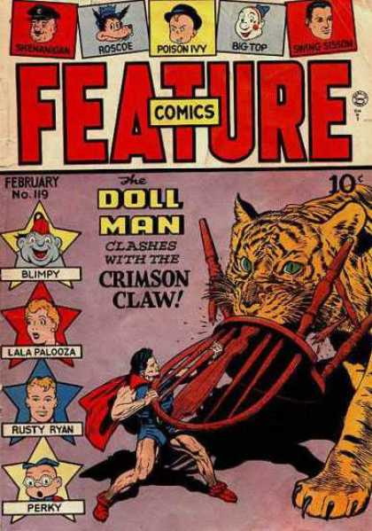 Feature Comics 119 - Doll Man - Roscoe - Poison Ivy - Big Top - Lala Palooza