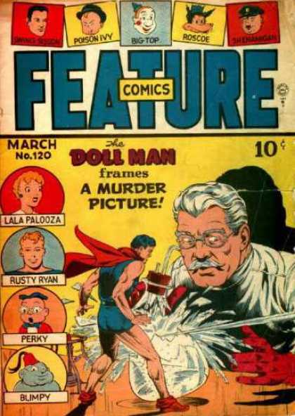 Feature Comics 120 - Doll Man - March - A Murder Picture - Lala Palooza - Rusty Ryan