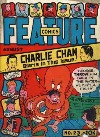 Feature Comics 23 - Charlie Chan - Ned Brant - Lala Palooza - Jane Arden - Toddy