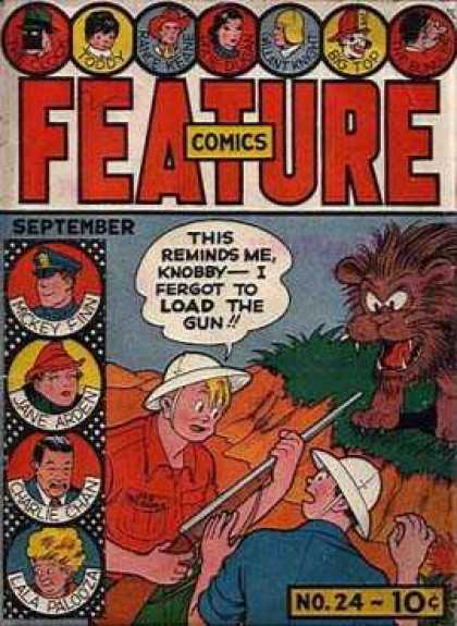 Feature Comics 24 - Feature Comics - Hunting - Lion - September - No 24
