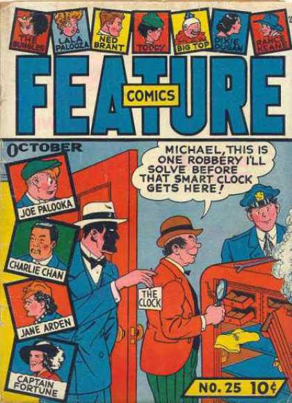 Feature Comics 25 - Joe Palooka - Charlie Chan - Jane Arden - Captain Fortune - Robbery
