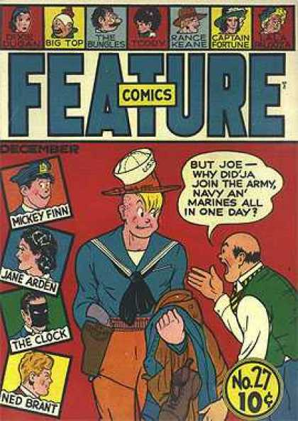 Feature Comics 27 - Mickey Finn - Jane Arden - The Clock - Ned Brant - Joe