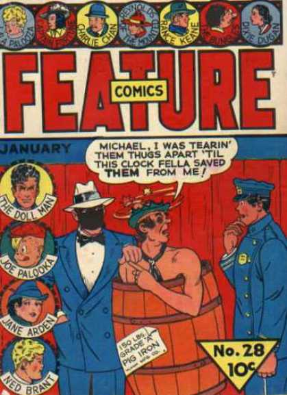 Feature Comics 28 - Policeman - Black Mask - Barrel - Blackeye - Bow Tie