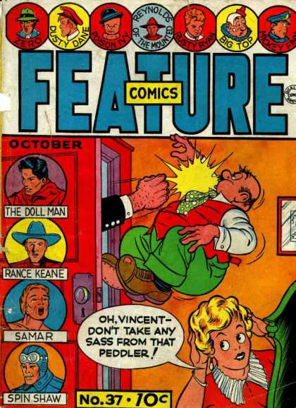 Feature Comics 37 - Dusty Dane - Punch - Woman - October - No37