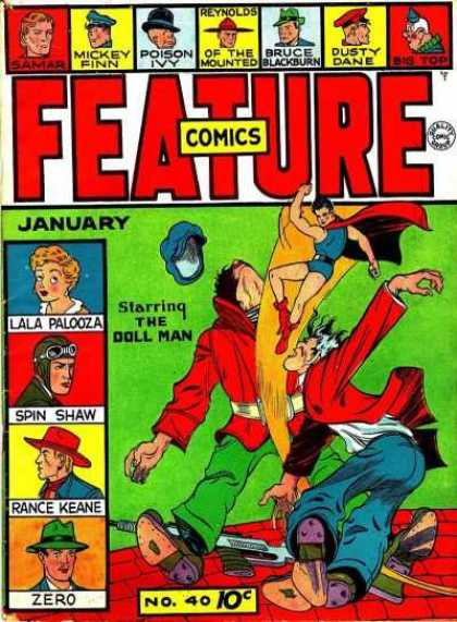 Feature Comics 40 - Mickey Finn - Poison Ivy - Bruce Blackburn - Doll Man - January
