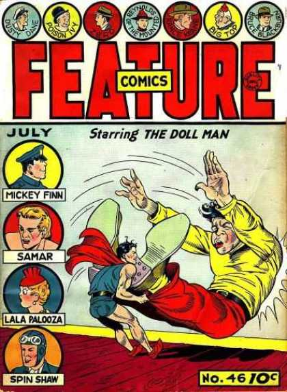 Feature Comics 46 - Mickey Finn - The Doll Man - Samar - Lala Palooza - Spin Shaw