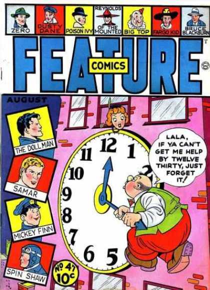 Feature Comics 47 - The Doll Man - Samar - Mickey Finn - Spin Shaw - Clock