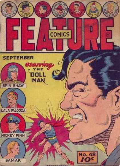 Feature Comics 48 - September No 48 - The Doll Man - Spin Shaw - Lala Palooza - Samar