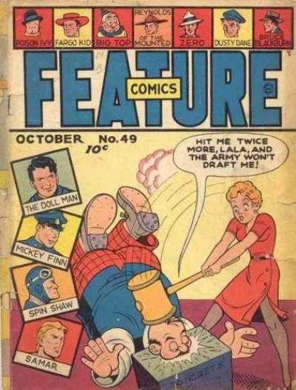 Feature Comics 49 - Feature - Hammer - The Doll Man - Reynolds Of The Mounted - October No49