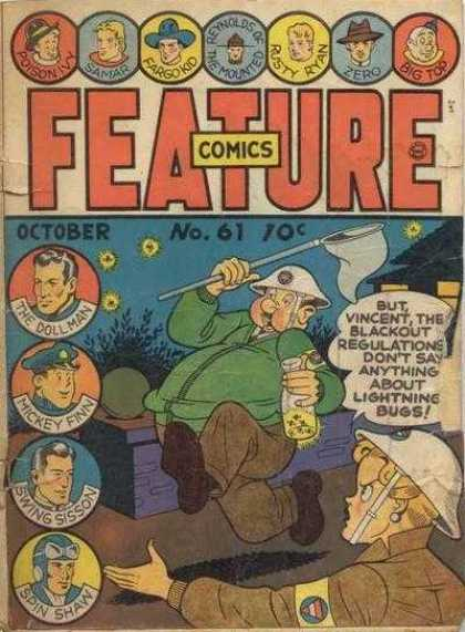 Feature Comics 61 - Lightning Bugs - The Dollman - Mickey Finn - Swing Sisson - Spin Shaw
