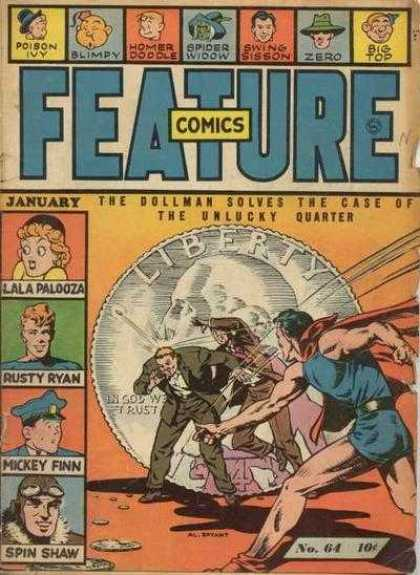 Feature Comics 64 - No 64 - Classic Comic - Poison Ivy - Dollman - With Multiple Characters