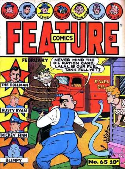 Feature Comics 65 - Poison Ivy - Zero - February - The Dollman - Red Fuel Truck