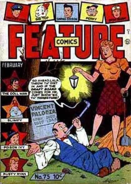 Feature Comics 75 - Lanturn - Grave - Tombstone - The Doll Man - Blimpy