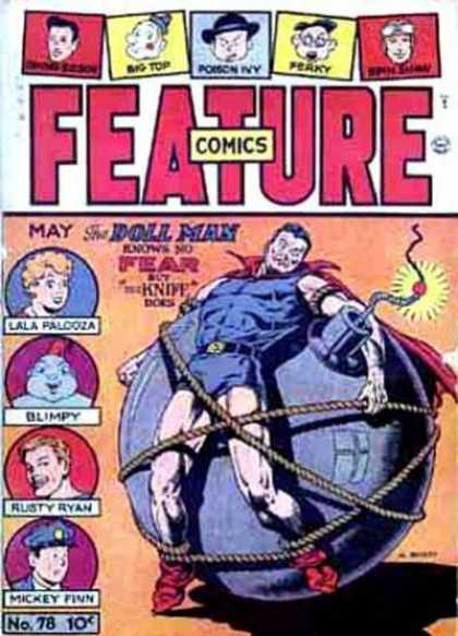 Feature Comics 78 - Bomb - Fuse - Rope - Man - Woman