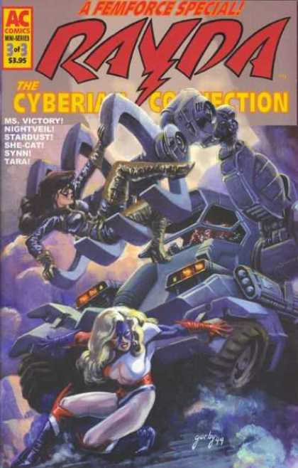 Femforce: Cyberian Connection 3 - Ac Comics - 3 Of 3 395 - Ms Victory - Nightveil - Starbust
