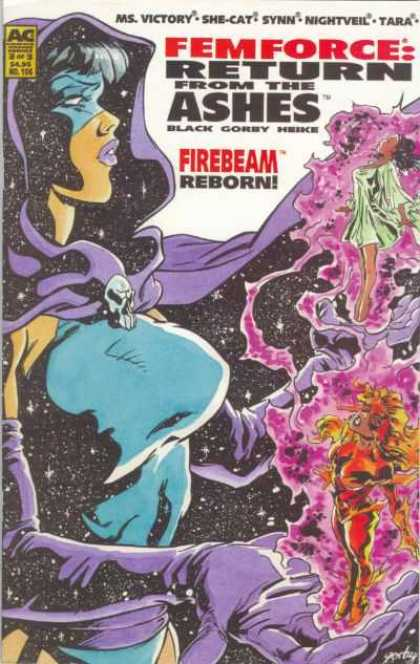 Femforce 106 - Ac - Return From The Ashes - Black - Gorby - Firebeam Reborn - Mark Heike