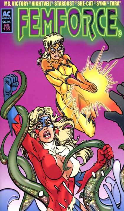 Femforce 135 - Super Heroes - Super Powers - Tentacles - Struggle - Action