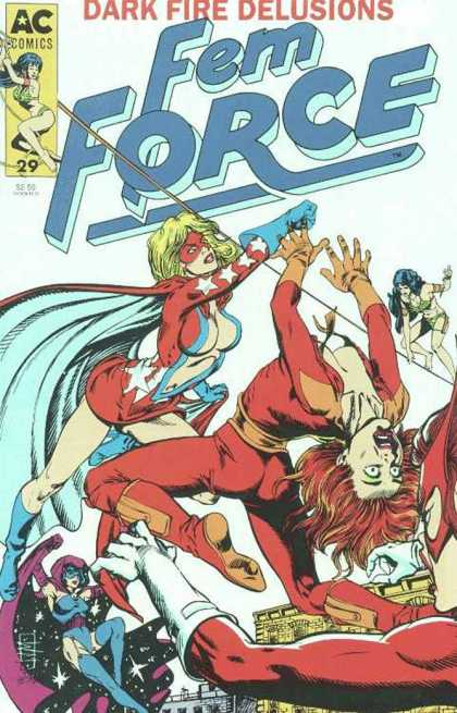 Femforce 29 - Women - Trouble - Fight - Fly - Punch