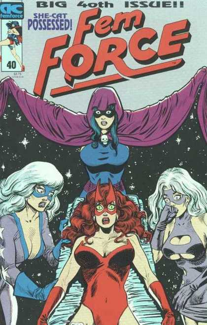Femforce 40 - Fem Force - She-cat Possessed - 40th Issue - Four Women - Superwomen - Dick Ayers, Mark Heike