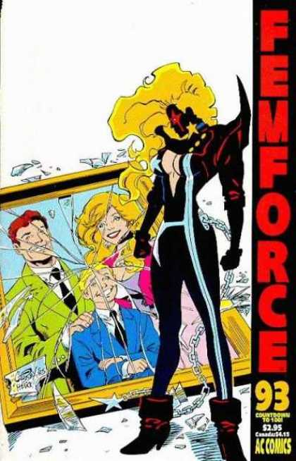 Femforce 93 - Costume - Superhero - Chain - Photoframe - Ac Comics