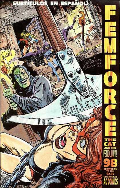 Femforce 98 - Subtitulos En Espanol - Girl - Superhero - Guillette - Ac Comics