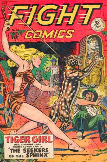 Fight Comics 61 - Tiger Girl - The Seekers Of The Sphinx - Mummy - Singing Lash - Congo
