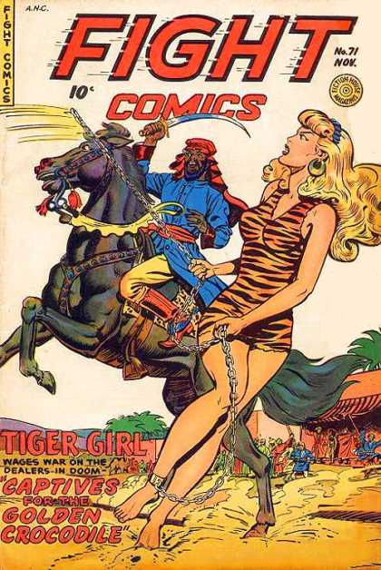 Fight Comics 71 - Tiger Girl - Stallion - Sabre - Captives For The Golden Crocodile - Turban