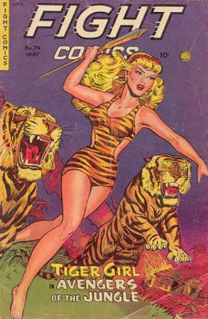 Fight Comics 74 - Silver Age - Heroines - Barbarians - Tigers - Adventure