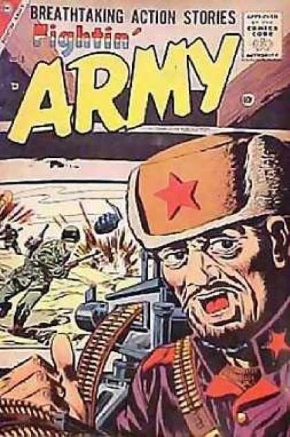 Fightin' Army 18 - Breathtaking Action Stories - Guns - Soldiers - Red Star - One Old Man Bearing Hat