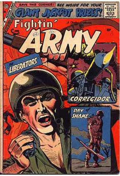 Fightin' Army 30 - The Liberators - Corregidor - Day Of Shame - Soldier - Yell