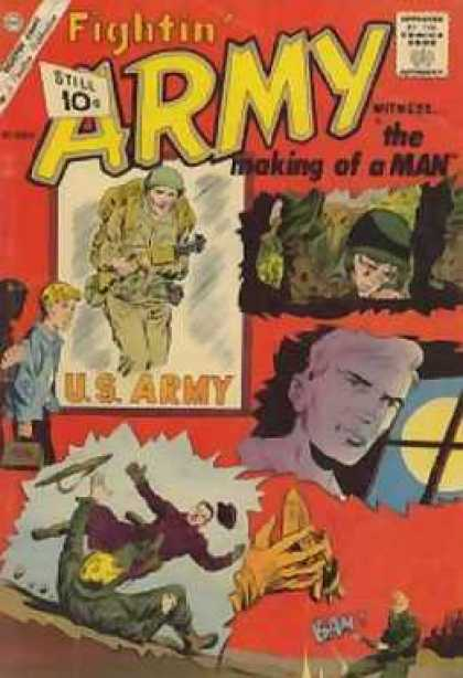 Fightin' Army 43 - Hands - Army Guys - Guns - Yellow Circle - Black Cross