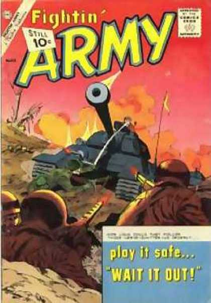 Fightin' Army 45 - Soldiers - Army Tank - Guns - Gun Fire - Battlefield