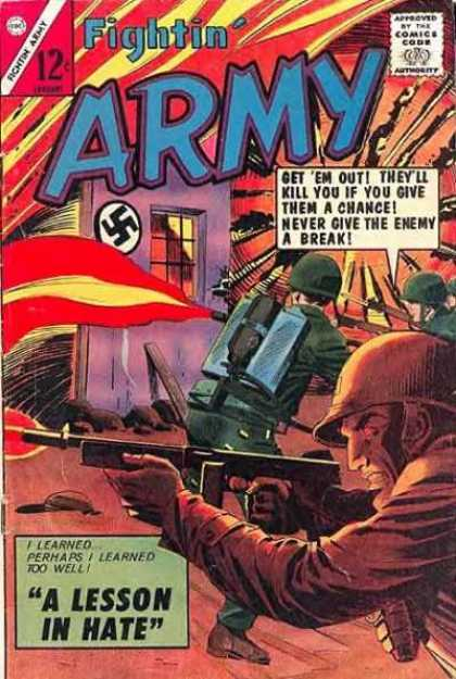 Fightin' Army 61 - A Lesson In Hate - Nazi - War - Fighting - Action