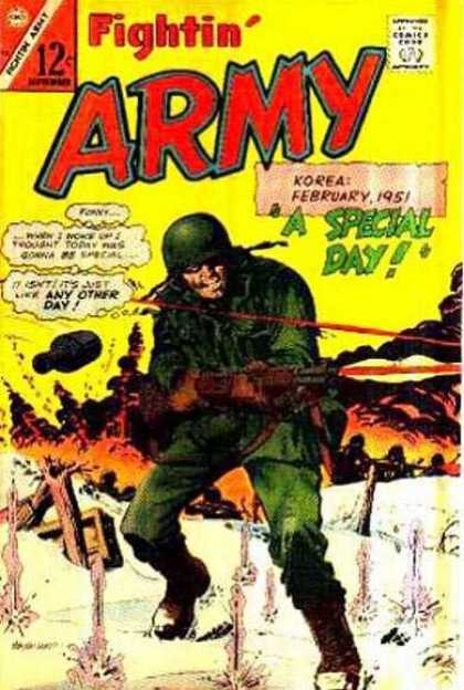 Fightin' Army 70 - Korea - February 1951 - A Special Day - Bomb - Flames