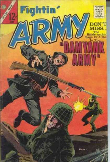 Fightin' Army 74 - Gun - Shoot - Man - War - Fight