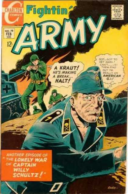 Fightin' Army 78 - Kraut - Halt - American G I - Tank - The Lonely War Of Captain Willy Schultz - Rocco Mastroserio