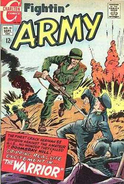 Fightin' Army 81 - Charlton Comics - Comics Code - Soldier - Gun - War