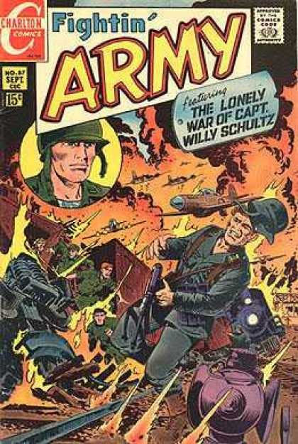 Fightin' Army 87 - Charlton Comics - The Lonely War Of Capt Willy Schultz - Willy Schultz - War Comic - Soldiers