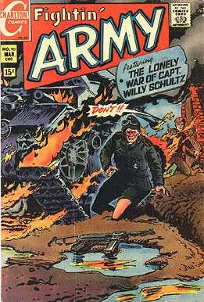 Fightin' Army 90 - The Lonely War Of Capt Willy Schultz - Dont - Machine Gun - Destruction - An Old Man