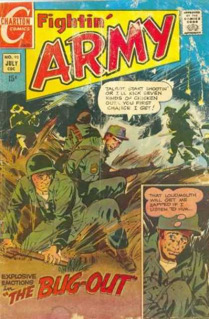 Fightin' Army 92 - Comics Code Authority - Charlton Comics - Speech Bubble - Military - 15 Cents