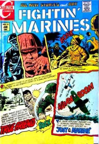 Fightin' Marines 101 - All New Stories - Soldiers - Guns - War - Airplane