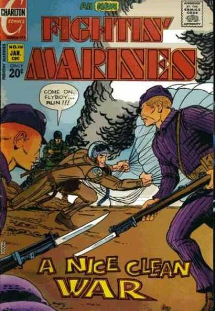Fightin' Marines 108 - Charlton - Parachute - January - 20 Cents - Military