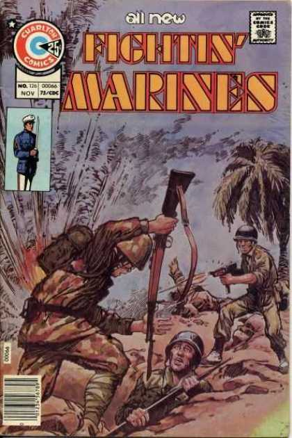 Fightin' Marines 126 - Gun - No 126 Nov - Approved By The Comics Code - Sword - Cuadlton Comics