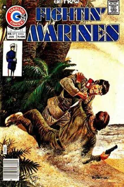 Fightin' Marines 127 - Fight - Beach - Tropical - Knife - Pistol