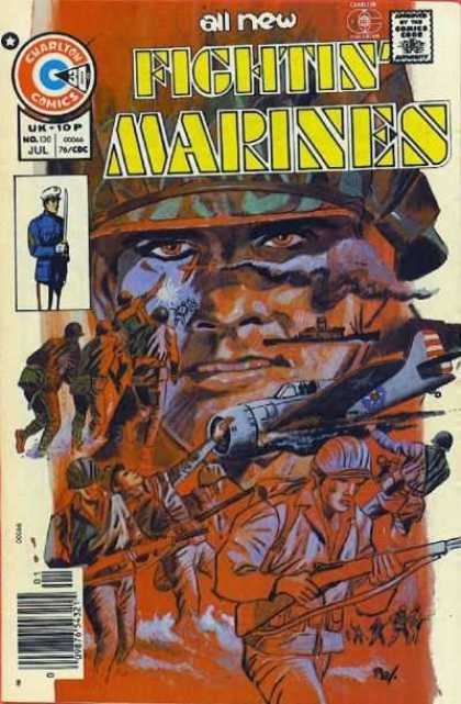 Fightin' Marines 130 - Marines - War - Fight - Plane - Guns