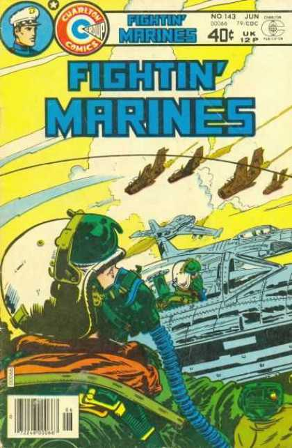 Fightin' Marines 143 - Pilots - Jets - Clouds - Helmets - Dogfight