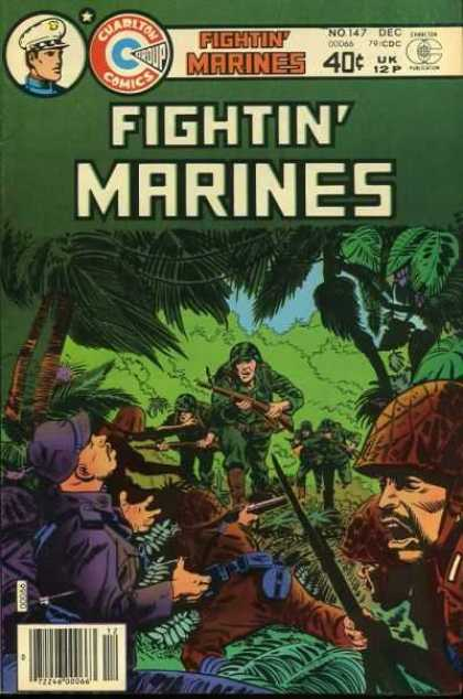Fightin' Marines 147 - Charlton Comics - Soldiers - Jungle - Guns - No 147